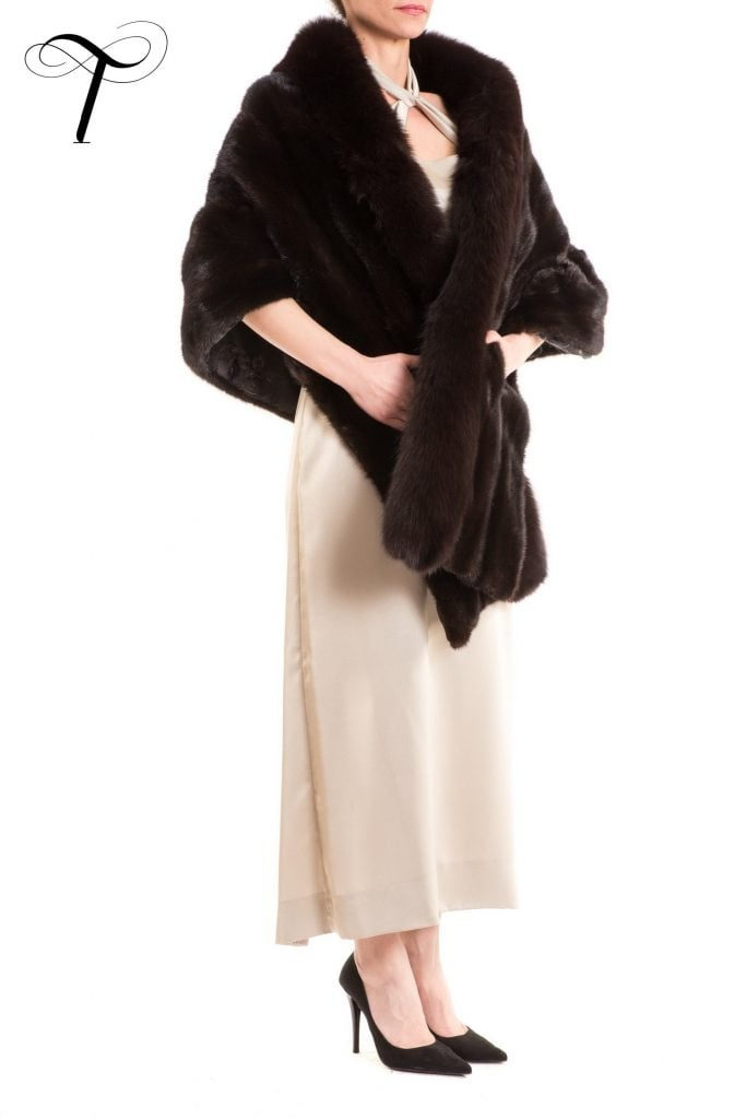 Black Cape Fur Cape