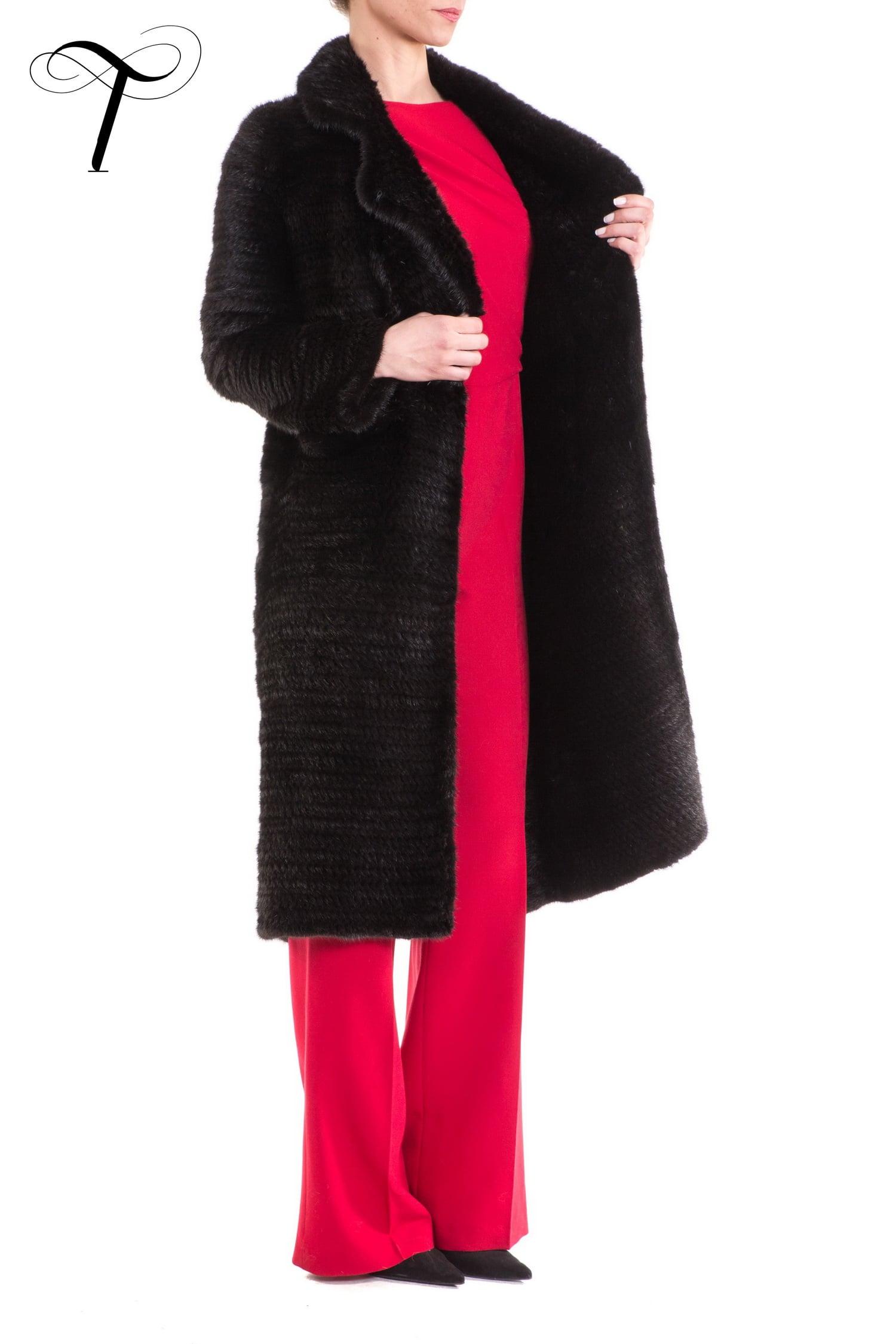 Fur Coat Knitted Coat